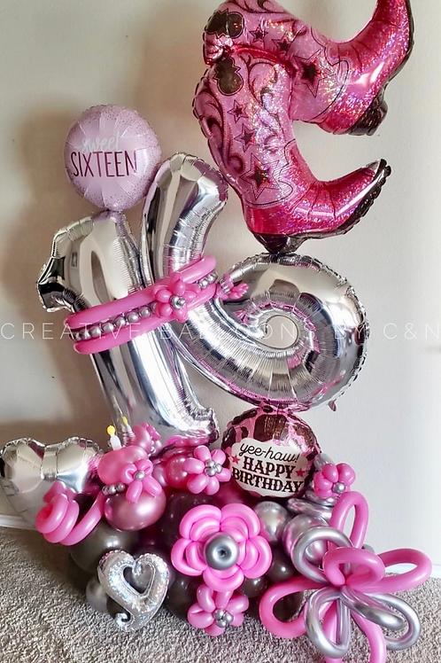 Sweet Sixteen Cowgirl Bouquet