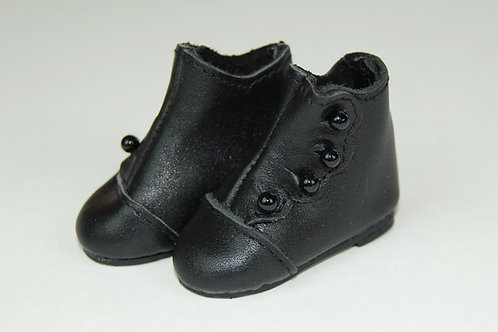 LD High Button Black Shoe
