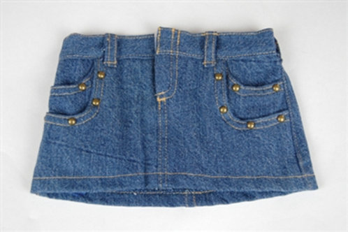 Denim Studded Mini Skirt