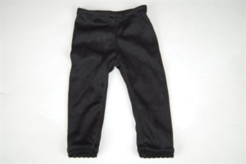KS Black Leggings w/ Lace Trim