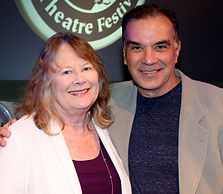 Shirley Knight and her buddy, Alan Safier.