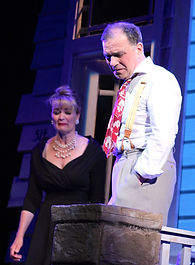 "Mari Nelson and Alan Safier in a scene from William Inge's ""Picnic"" at the Inge Theatre Festival."