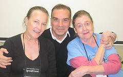 Good friends Barbara Dana, Alan Safier and Elizabeth Wilson