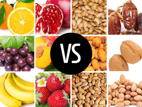 Орехи против фруктов: что лучше для поддержания сытости?