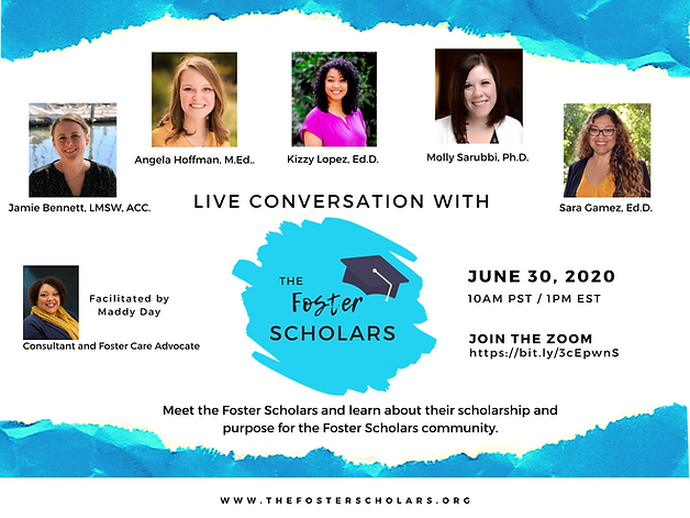 Live Conversation with The Foster Scholars. Meet the Foster Scholars and learn about their scholarship and purpose for the Foster Scholars community.