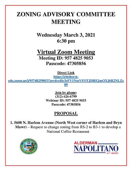 ZONING ADVISORY COMMITTEE MEETING 3.3.21