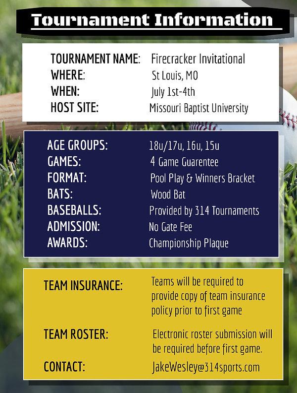 Firecracker Invitational | Tourney Info.