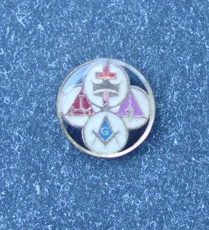Insigna Ritul York, metal comun aurit