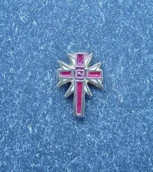 Insigna Ritul York, cruce grad, metal comun