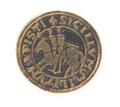 Insigna Cavalerii Templieri, metal comun aurit (mica)