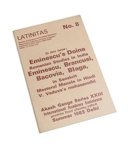 Revista Latinitas nr. 8/1983, buletin al Cercului Romanesc Mihai Eminescu