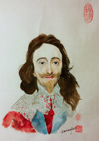 Portrait de Charles Ier d'après Van Dyck