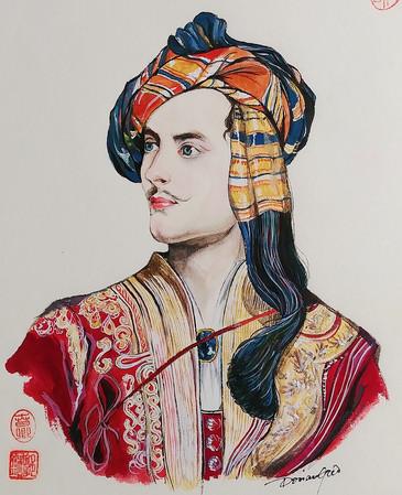 Portrait de Lord Byron d'après Thomas Phillips