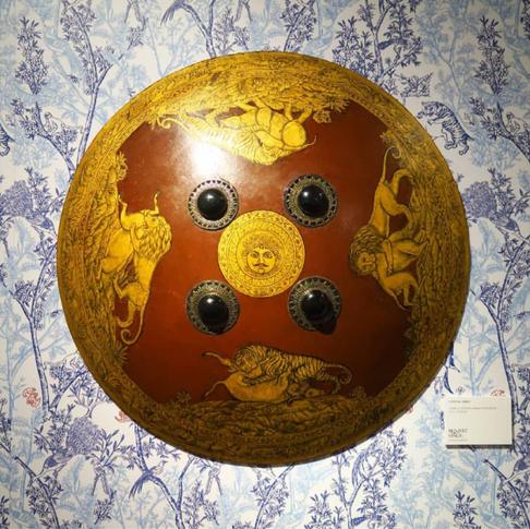Toile de Jouy d'orient, avec bouclier XVIIIe de Udaipur
