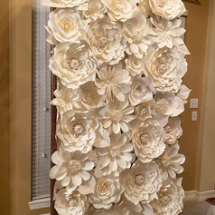 White Floral Wall