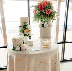"""Spring collection, """"Love Birds"""" cake table and bouquet"""