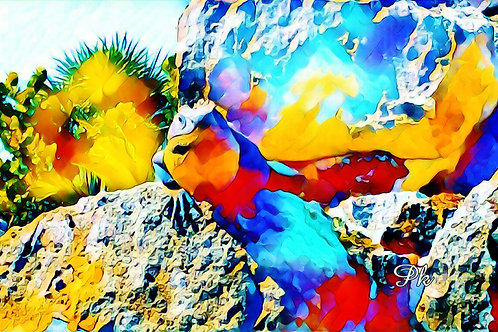 Abstract Psychedelic Iguana