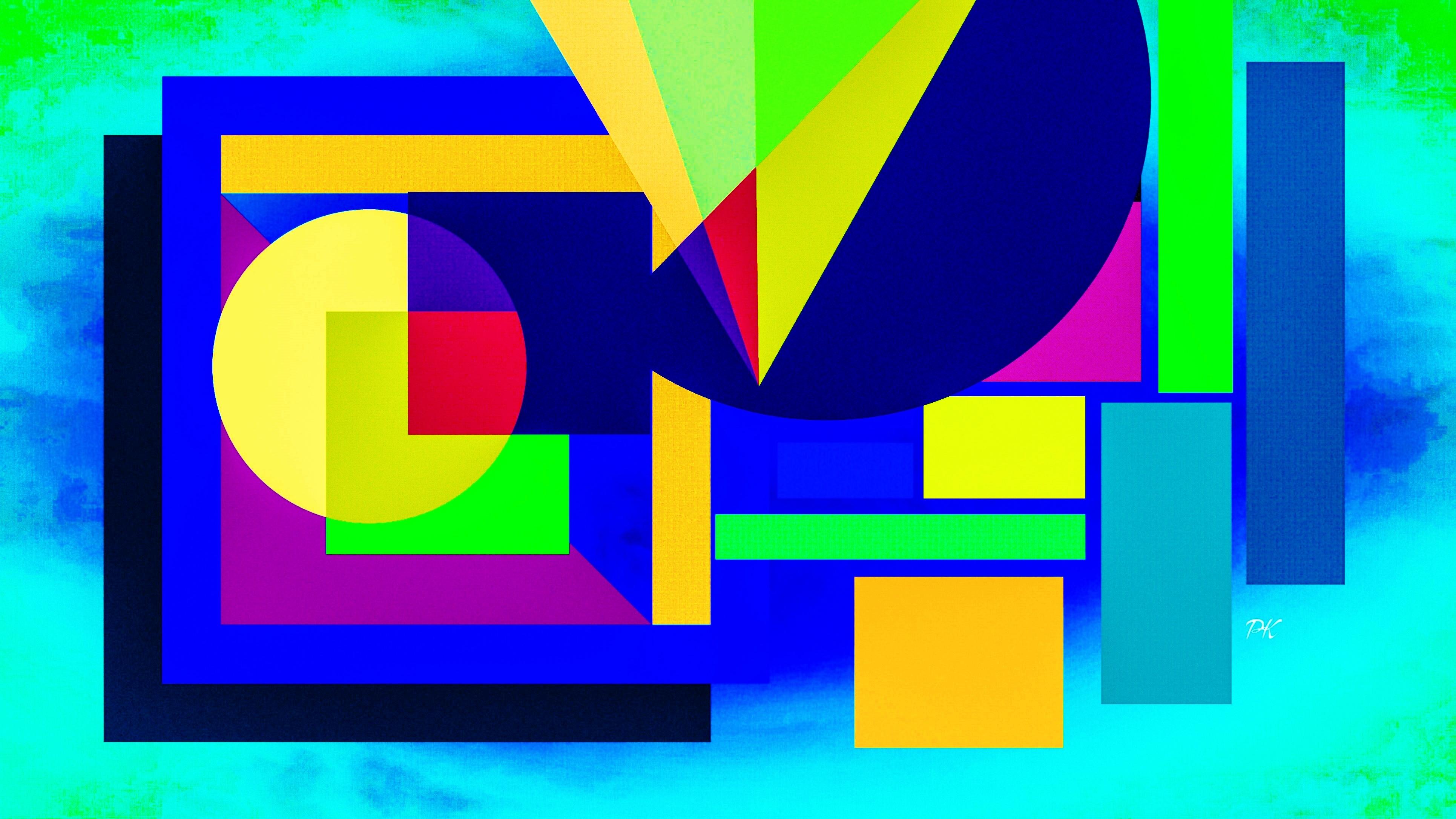 Geometric Light Blue Gold