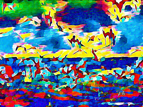 Birds Flying Ocean