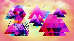 Geometric Tan Beige Pink
