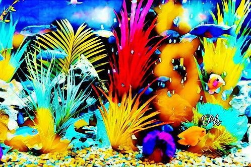 Abstract Psychedelic Aquarium
