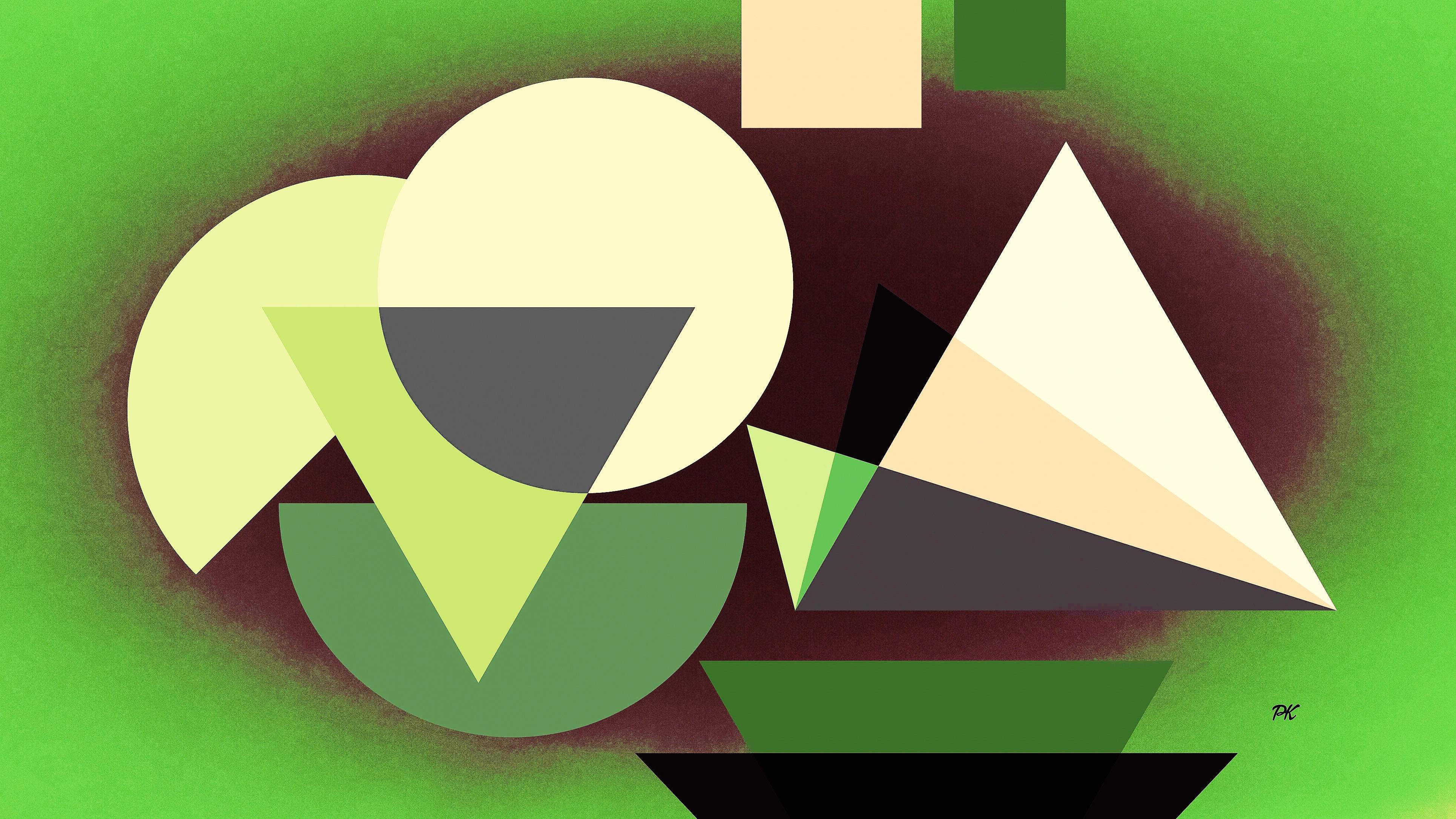 Geometric Green Beige