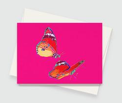 Abstract Butterflies Card