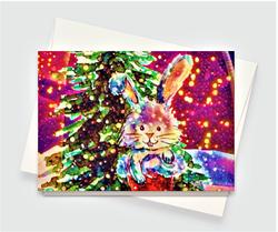 Christmas Bunny Greeting