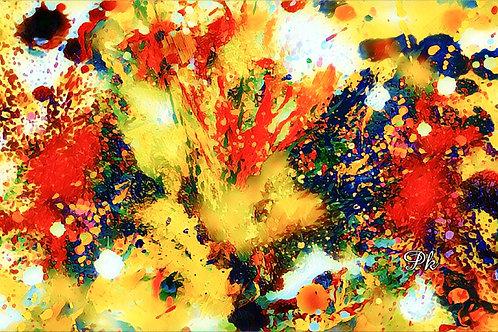 Abstract Color Splash Golden
