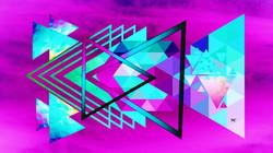 Geometric Magenta Teal