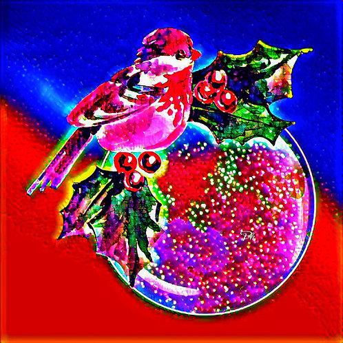 Abstract Christmas Bird
