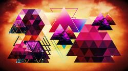 Geometric Tan Pink Brown
