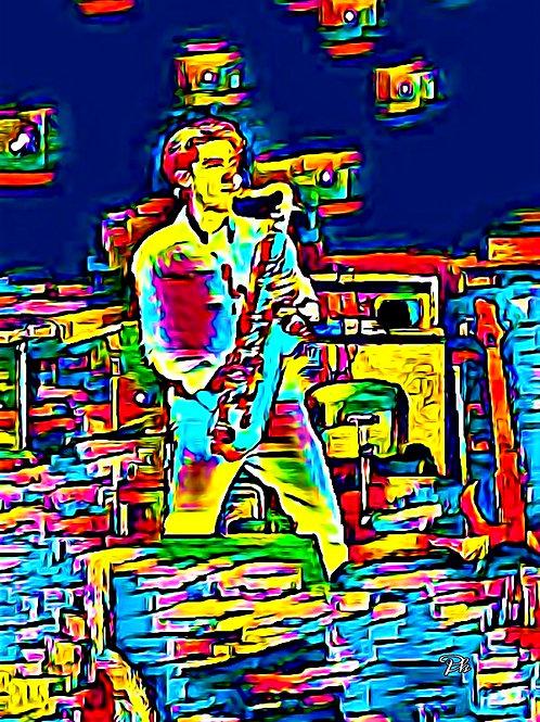 Man & Saxophone