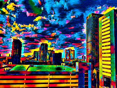 Downtown Houston Abstract