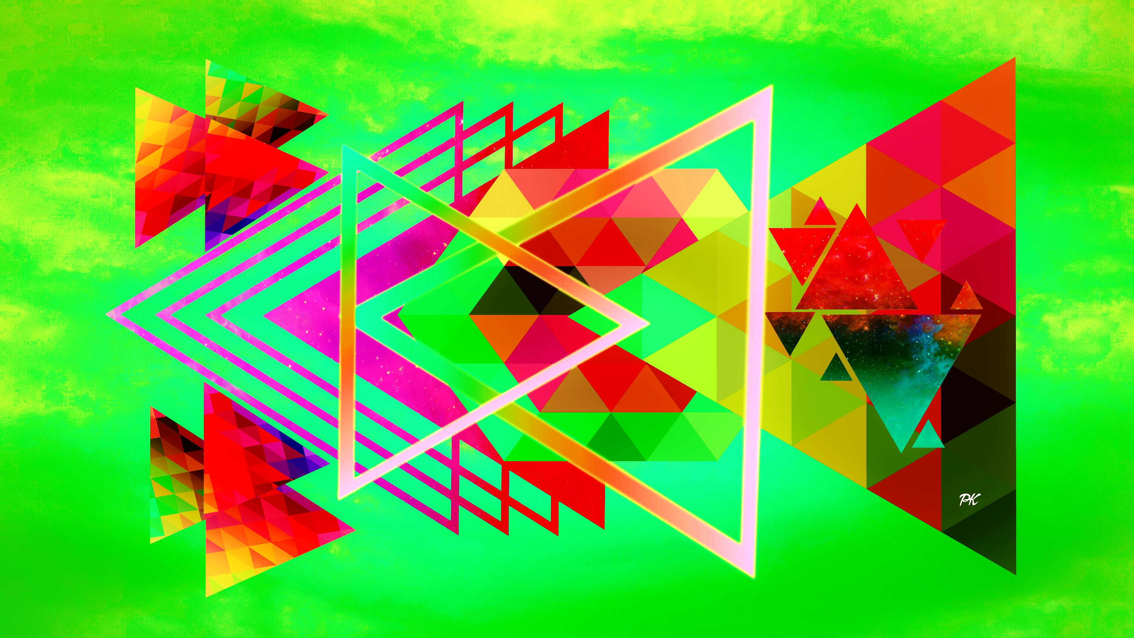 Geometric Light Olive Red