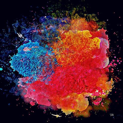 Blue & Red Paint Splash