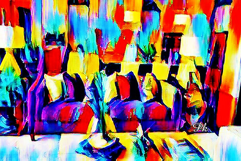 Abstract Family Room