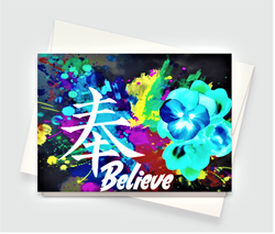 Believe Sign Greeting Card