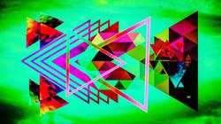 Geometric Teal Green