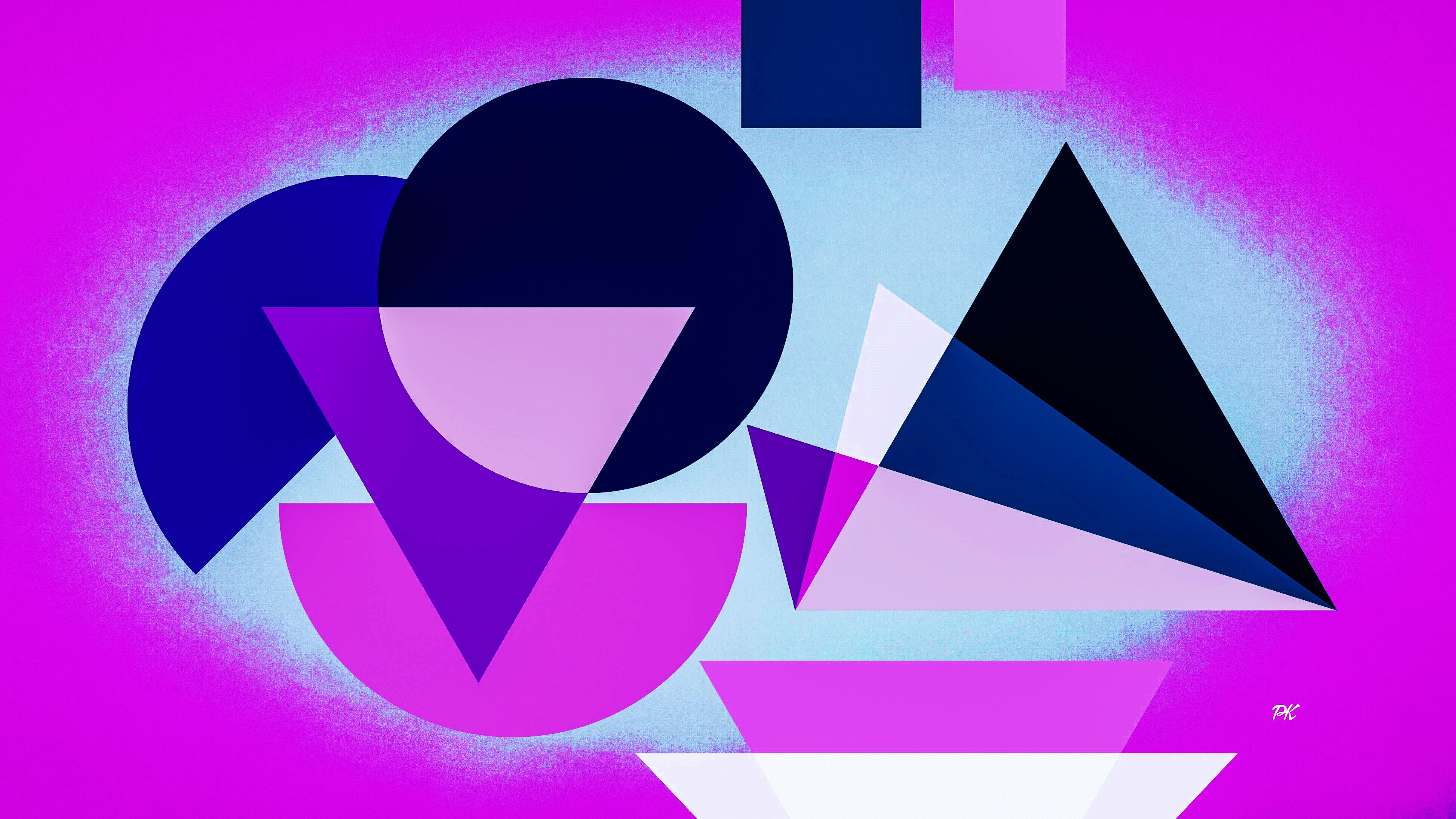 Geometric Magenta Blue
