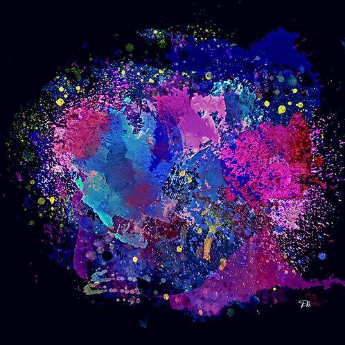 Purple Blue Paint Splash