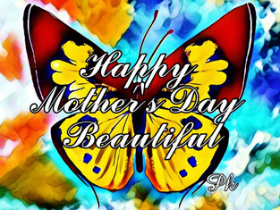 Mother's Day Butterfly Canvas