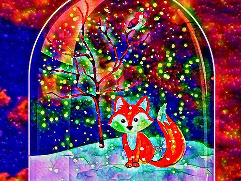 Abstract Christmas Fox