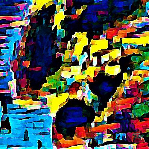 Hand Print Abstract