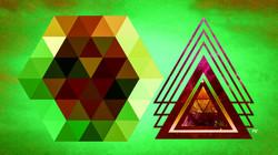 Geometric Lime Brown Gold