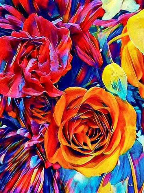 Abstract Orange Rose