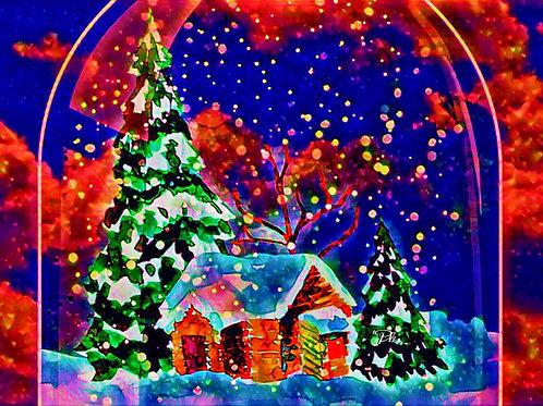 Abstract Christmas House