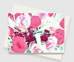 Pink Roses & Tulips Card