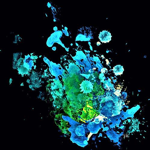 Blue Teal Green Black