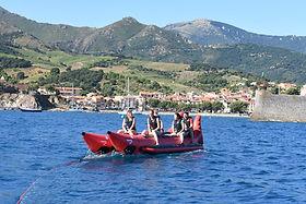 banane tractée, eden club , argelès sur mer